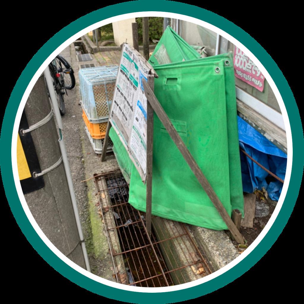 ゴミステーション分別看板の修復